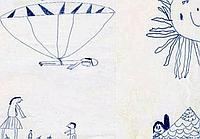 Felix Baumgartner's drawing, predicting his death-defying stunt.